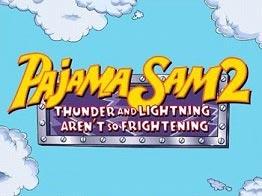 دانلود بازی ماجرا جویی سام پاجما برای سیمبین Pajama Sam 2: Thunder and Lightning Arent so Frightening