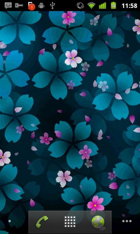 دانلود لایو والپیپر Sakura Falling  برای اندروید
