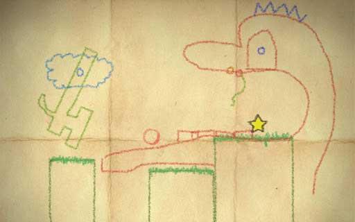 دانلود بازی سرگرم کننده مداد شمعی Crayon Physics Deluxe برای اندروید
