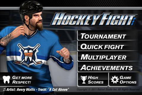 دانلود بازی هاکی روی یخ برای گوشی اندروید Hockey Fight Pro