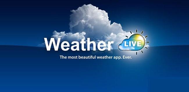 دانلود نرم افزار نمایش وضعیت آب و هوا برای اندروید Weather Live