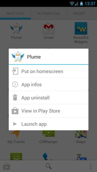 دانلود نرم افزار مدیریت برنامه های اندروید Quad Drawer quick app drawer