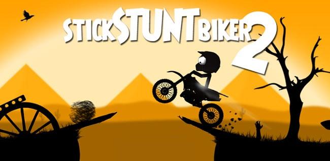 دانلود بازی موتور سواری قشنگ Stick Stunt Biker برای اندروید