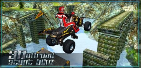 دانلود 3D Quad Bike Offroad Stunts 1.1 - بازی اندروید مسابقات موتور آفرود