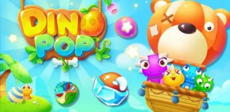 دانلود DinoPop 1.0.6 - بازی پازل جورچین داینا پاپ برای اندروید